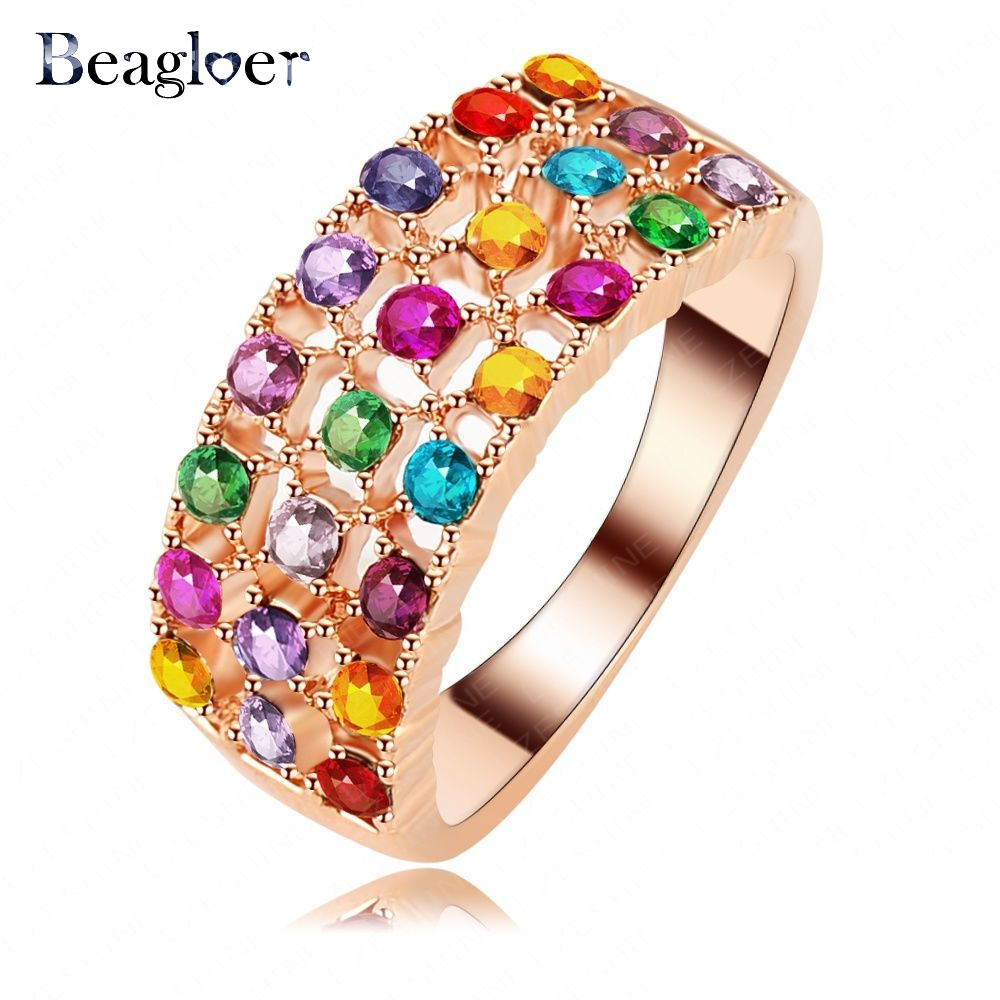 Top Quality Ladies Ring Rose Gold Color Rings Jewelry Austrian Crystal Wedding Ring Free Shipping Ri-HQ1132-A