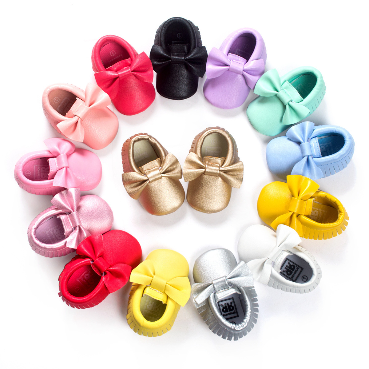2018 High Quality Fashion Infant Baby Boys Girls Pu Leather Shoes Toddler Bebe Bowknot Non-slip First Walker Baby Moccasins
